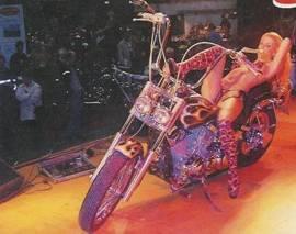 Stripperin Duisburger Motorradmesse